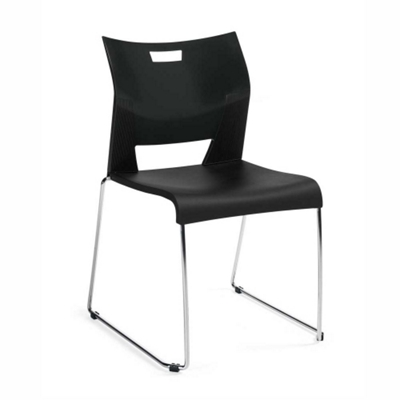 Armless Sled Base Stack Chair