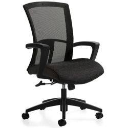 Mesh Back Fabric Seat High Back Task Chair