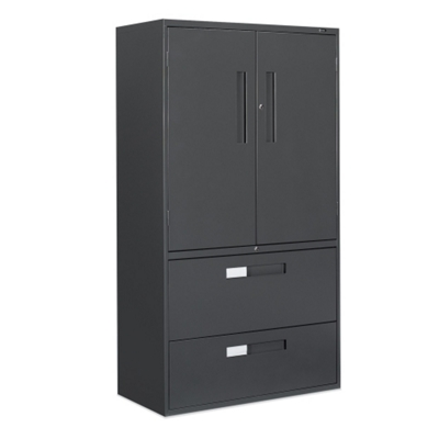 """36""""W 2 Drawer Lateral File with Storage Cabinet"""