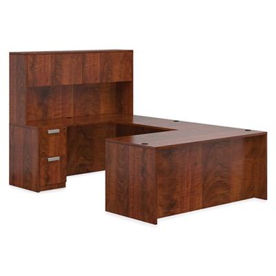 """Contemporary U-Desk and Hutch - 71""""W x 108""""D"""