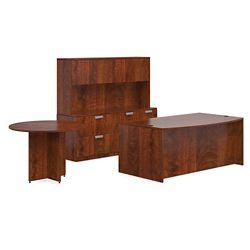Contemporary Bowfront Desk Suite