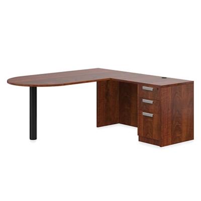 "Contemporary Peninsula L-Desk - 71""W x 72""D"