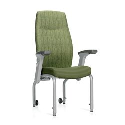 "Flex Back Patient Chair with Rear Casters and Flip Arms - 20""H Seat"