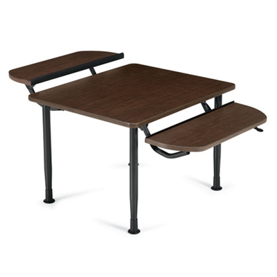 Table with Two Height Adjustable Tablet Surfaces