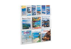 Literature Rack with 6 Brochure and 6 Magazine Pocket