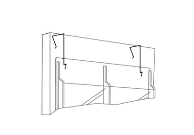 Set of Partition Hangers for Literature Rack