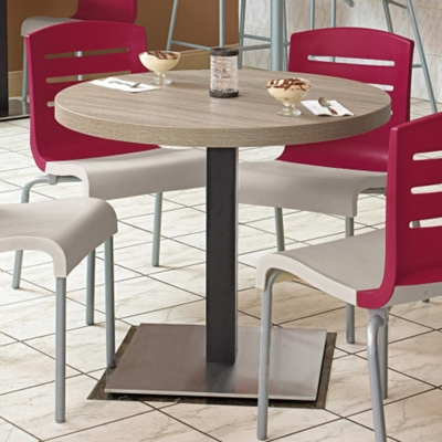 "Round Table with Square Steel Base - 30""DIA"