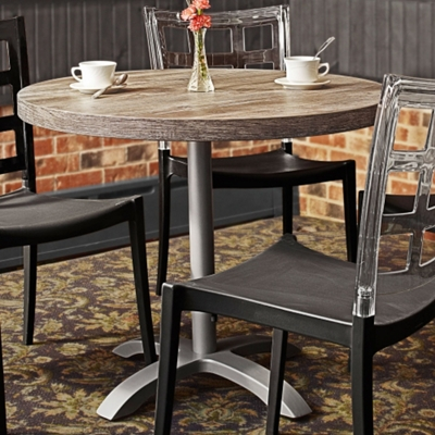 "Round Table with Aluminum Pedestal Base - 30""DIA"