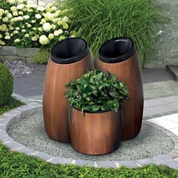 Three Piece Receptacle and Planter Set