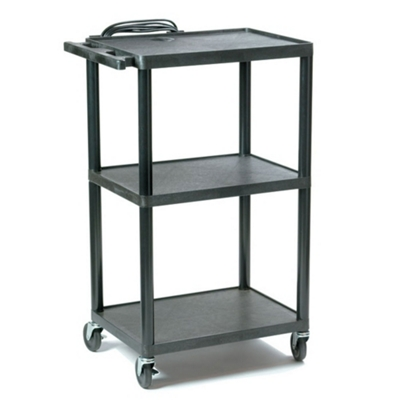 Adjustable Height Plastic AV Cart