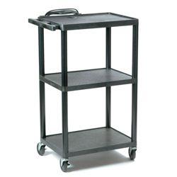 Adjustable Height Plastic AV Cart