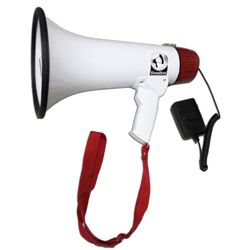15W Megaphone with Mic and Voice Recording Functionality