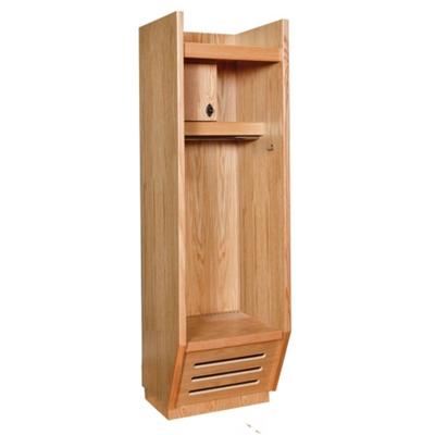 Open Front Wood Locker