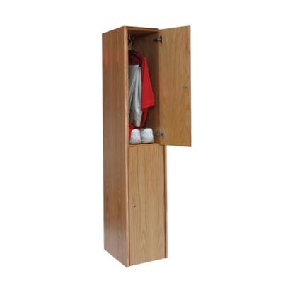 Double Tier Wood Locker