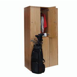 Double Tier Wood Locker - 3 Wide