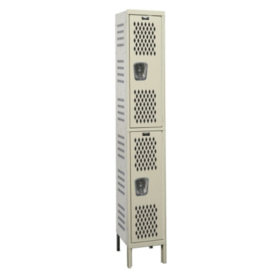 "18""W x 21""D Two Tier Ventilated Locker"