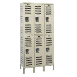 "36""W x 12""D Two Tier Ventilated Locker"