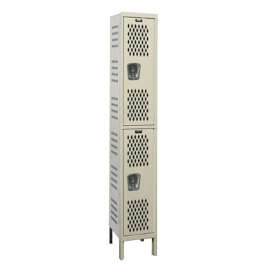 "Assembled 18""W x 21""D Two Tier Ventilated Locker"