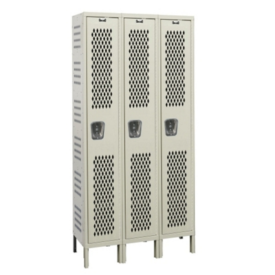 "Assembled 54""W x 21""D Single Tier Ventilated Locker"