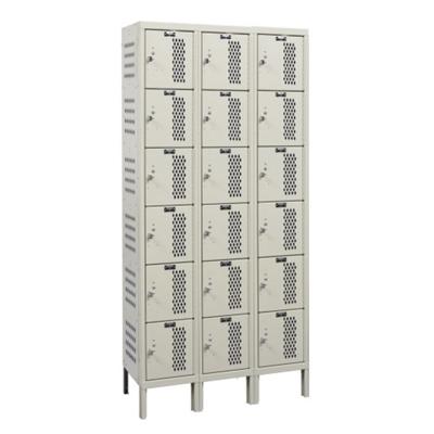 """Assembled 36""""W x 15""""D Six Tier Ventilated Locker"""