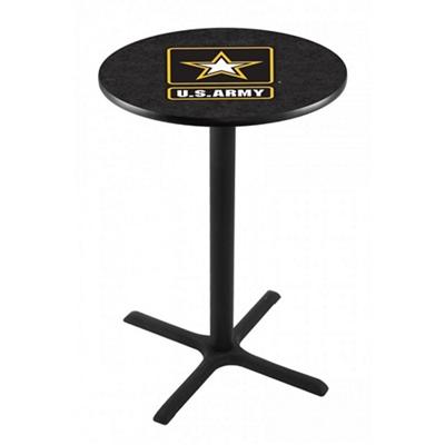 "Military Logo X-Base Table - 28""DIA x 42""H"