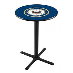 "Military Logo X-Base Table - 36""DIA x 36""H"