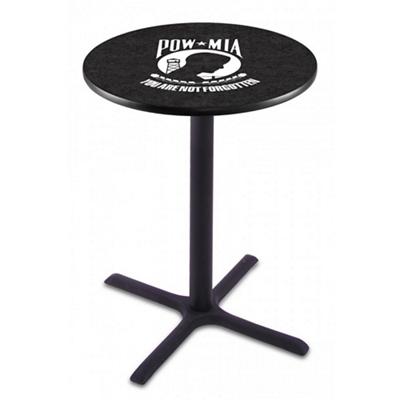 "Military Logo X-Base Table - 36""DIA x 42""H"