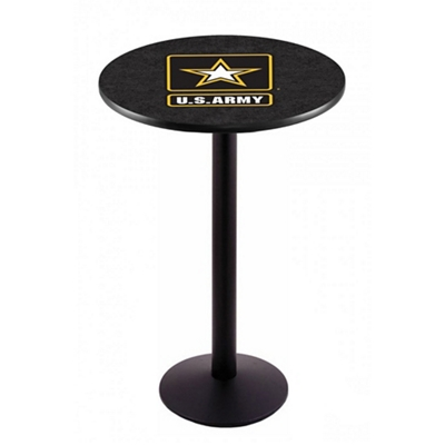 "Military Logo Disc Base Table - 28""DIA x 42""H"