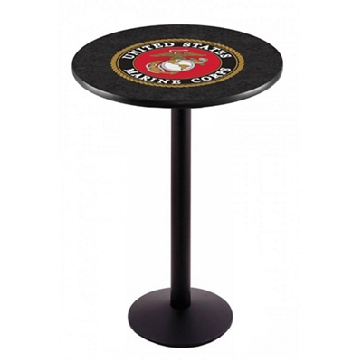 "Military Logo Disc Base Table - 36""DIA x 42""H"