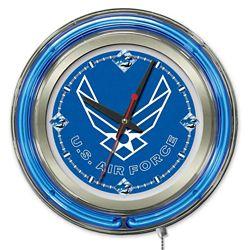 "Military Logo Neon Clock - 15"" Dia."