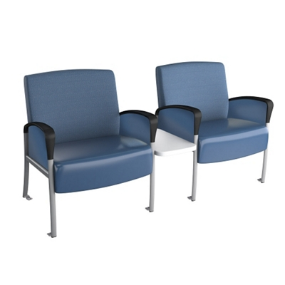 Behavioral Health Two Seat Chair with Center Table