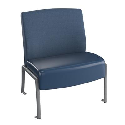 "Behavioral Health Armless Guest Chair - 21""W Seat"