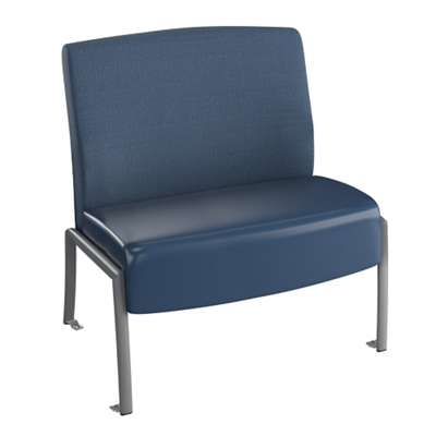 "Behavioral Health Armless Guest Chair - 24""W Seat"