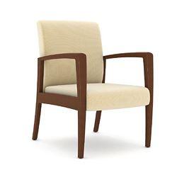 Polyurethane Armchair with Wood Frame