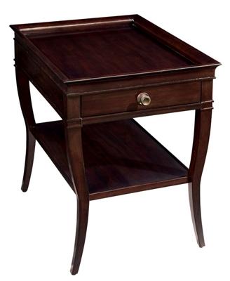 """Wood Veneer Lamp Table - 20""""W x 27""""D"""