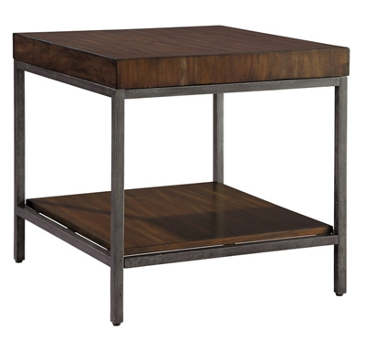 """Wood Block-Top End Table - 28"""" W x 26"""" D"""