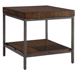 """Veneer Block-Top End Table - 28"""" W x 26"""" D"""