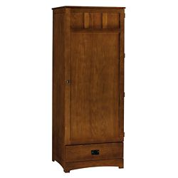 "Single Door Wardrobe with Drawer - 73""H"