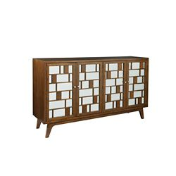 "Storage Console with Mirrored Doors - 72""W"