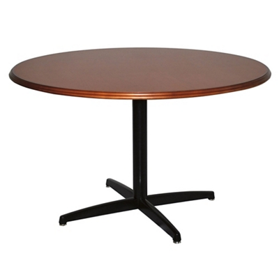 "X-Base Dining Table with Bullnose Edge - 48""DIA"