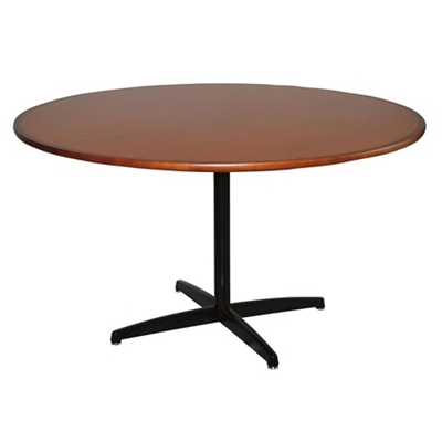 "X-Base Dining Table with Bullnose Edge - 54""DIA"