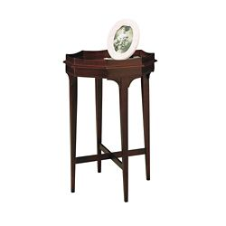 "Accent Table with Raised Sides - 18""W"
