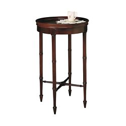 "Accent Table with Raised Sides - 16""DIA"