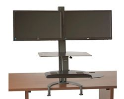 Sit Stand Dual Monitor Workstation