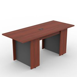 Ascend Rectangular Meeting Table with Power Module - 6'