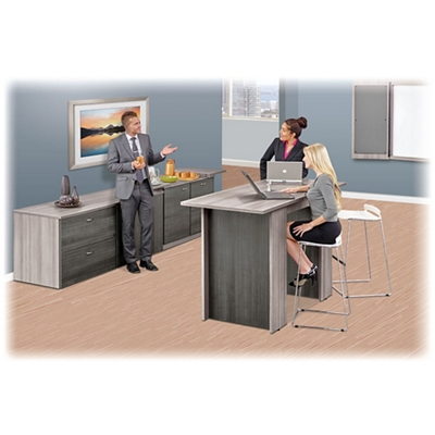Ascend Rectangular Standing Height Meeting Table with Power Module - 6'