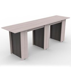 Ascend Rectangular Standing Height Meeting Table - 10'