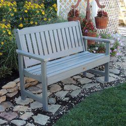 """Outdoor Vertical Slat Bench- 48""""W"""