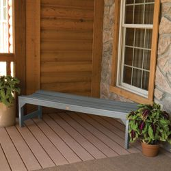 """Outdoor Parson Leg Synthetic Wood Bench- 48""""W"""