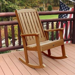 Vertical Slat Synthetic Wood Rocking Chair